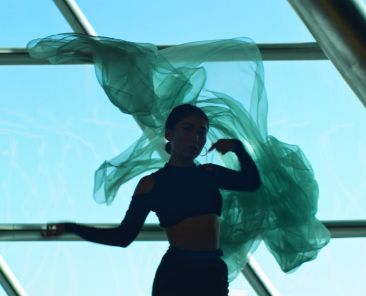 spingun films vogue dancing in building